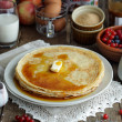 Pancakes with maple syrup — Stock Photo #53753115