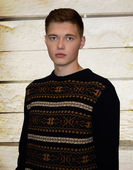 Male model in sweater — Stock Photo
