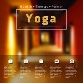 Name of yoga studio — Stock Vector