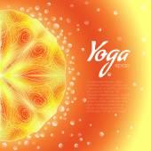 Fantasy yoga background — Stock Vector