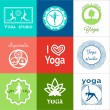 Постер, плакат: Set of yoga logos