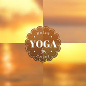 Logo for yoga posters. — Vetorial Stock