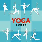 Yoga illustration — Stock Vector