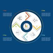 Business process management. — Stock Vector