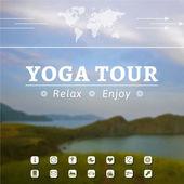 Yoga poster — Stock Vector