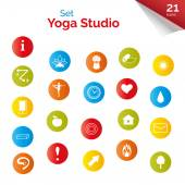 Multicolored buttons for yoga site — Stockvektor