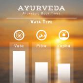 Ayurvedic body types — Stockvector