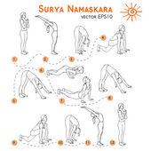Sketch with yoga asana — Stockvector