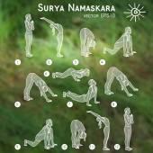 Sketch with yoga asana — Stock Vector