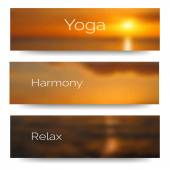 Banner design for yoga studio — Vettoriale Stock