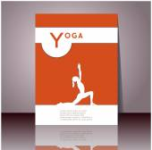 Contour of woman in yoga pose — Stock Vector