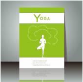 Booklet design for yoga studio — Stock Vector