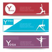 Banner design for yoga studio — Stock Vector
