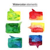 Watercolor design elements. — Stock Vector