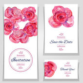 Save the date or wedding invitation templates — Stock Vector
