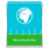 Poster for World Health Day — Stock Vector