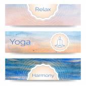 Banner design for yoga studio — Stock Vector