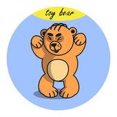 Teddy bear. Vector illustration — Stock Vector