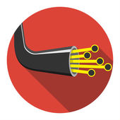 Optic cable icon. Vector illustration — Stock Vector