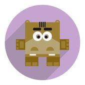 Icon of cute hippopotamus. — Stock Vector
