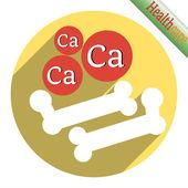 Bone icon with calcium — Stock Vector