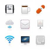 Office Work Icons — Stock Vector