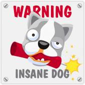 Warning. Insane dog. — Stock Vector