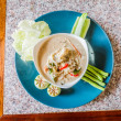Salted crab in Coconut Milk served with Fresh Vegetables,Lon Phu — Stock Photo #54890743