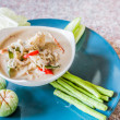 Salted crab in Coconut Milk served with Fresh Vegetables,Lon Phu — Stock Photo #54890933