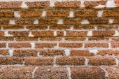 Old brick wall of temple for background — Stock Photo