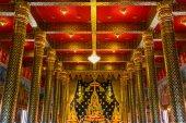 Gold Buddha in Wat Neramit Wipatsana, Loei Province, Thailand — Stock Photo