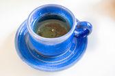 在蓝杯茶 — 图库照片