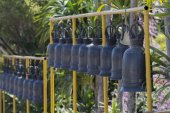 Cloches dans le temple de bouddhisme, Thaïlande — Photo