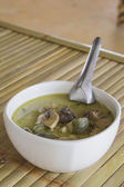 Thailand food Green curry Chicken Intense soup — Стоковое фото