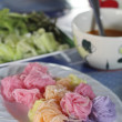 Постер, плакат: Colorful of Thai vermicelli eaten with curry and vegetables kano