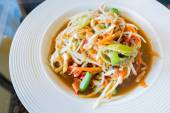 Thai papaya salad,Som tum. — Stock Photo