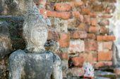 Передняя стенка статуя Будды Храм Таиланда — Стоковое фото