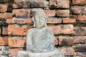 Buda heykeli açık duvar tapınak Tayland — Stok fotoğraf