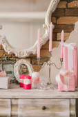 New Year's and Christmas interior in pink color 2 — Stock Photo