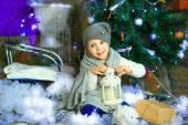 The girl near a Christmas fir-tree 8 — Stock Photo