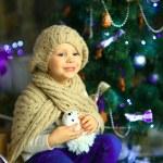 The girl near a Christmas fir-tree 15 — Stock Photo #59817353