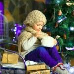 The girl near a Christmas fir-tree 11 — Stock Photo #59817361
