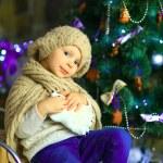 The girl near a Christmas fir-tree 14 — Stock Photo #59817365