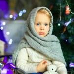 The girl near a Christmas fir-tree 23 — Stock Photo #59817425