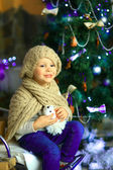 The girl near a Christmas fir-tree 15 — Foto de Stock