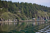 Die Küste auf dem See in Bergen 2 — Stockfoto