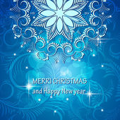 "Christmas card With the words ""Merry Christmas and a happy new year  "" — Stockvector"