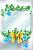 Weihnachten und neujahr hintergrund mit platz für text — Stockvektor