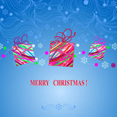 Christmas and New Year background with the words   Merry Christmas and a happy new year — 图库矢量图片