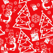 Christmas and New Year seamless pattern. Vector Illustration — Stock Vector